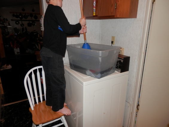 washing clothes without a washer